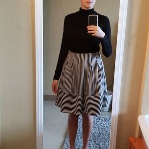 Striped Above The Knee Skirt